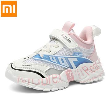 Xiaomi Mijia dzieci buty chłopiec Sport Sneakers dziewczyny buty dzieci moda Casual buty miękkie oddychające trener jesienne buty tenisowe tanie i dobre opinie Unisex BUTY TURYSTYCZNE CN (pochodzenie) Siateczka (przepuszczająca powietrze) wszystkie pory roku