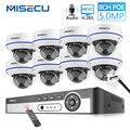 MISECU H.265 8CH 48 V POE CCTV система 5.0MP IP POE Антивандальная Водонепроницаемая металлическая камера 2560*1440 комплект видеонаблюдения