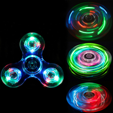 Trefoil Stars Shine In The Dark Fidget Spinner Hand Top Spinners Glow In Dark Light Figet Spiner Finger Cube Stress Relief Toy E цена