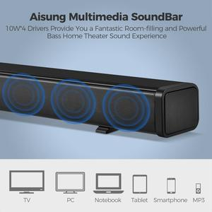 Image 3 - Sound Bar for TV, 32 Inch Soundbar Wired & Wireless Bluetooth 5.0 Speaker, 3D Surround Sound Home Theatre System, Wall Mountable