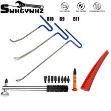 7 stücke Auto Body Dent Repair Kit, Auto Paintless Dent Entfernung Leitungs Unten Werkzeuge, auto Auto Körper Hagel Schäden Entferner