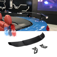 CF Kit V Style GT Spoiler Real Carbon Fiber Wing For Mercedes Benz C63 CLA45 Sedan For BMW F80 F82 F87 M2 M3 M4 Rear Trunk