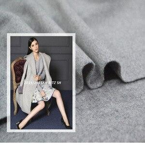 Image 4 - 150cm duplo face cor lã cashmere tecido casaco de inverno casaco grosso tecido de lã de caxemira por atacado pano de caxemira