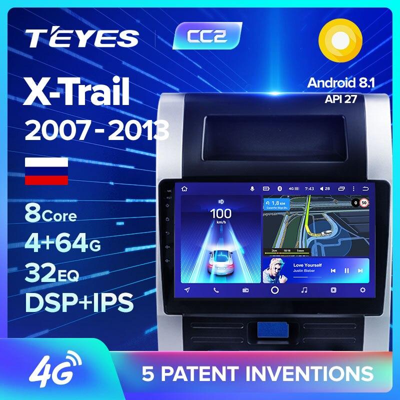 TEYES CC2 Radio Multimedia DVD Player De Vídeo Do Carro de Navegação GPS Android 4G-choque Para Nissan X-trail XTrail X trilha T32 T31 Qashqai