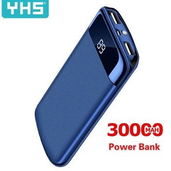 30000mah Power Bank For Xiaomi Samsung iphone 7 8 X External Battery PoverBank USB LED Powerbank Portable Mobile phone Charger