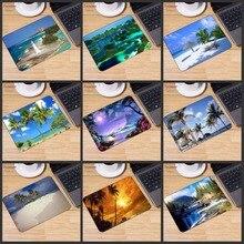 Yuzuoan plage mer palmier paysage grande promotion russie ordinateur jeu tapis de souris tapis de souris décorer votre bureau antidérapant en caoutchouc