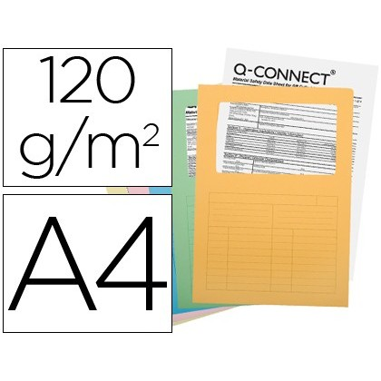 SUB-FOLDER CARDBOARD Q-CONNECT DIN A4 COLORS ASSORTED WITH WITH WINDOW TRANSPARENT 120 GR PACK 25 PCS