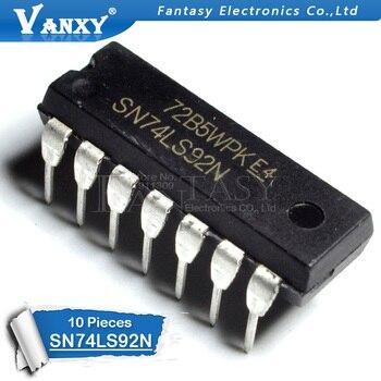 10PCS HD74LS92P DIP14 HD74LS92 DIP SN74LS92N 74LS92 SN74LS92 DIP-14 new and original IC