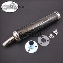 60X280mm Metal 10 Color 50 250CC Universal Motorcycle Racing Modified Muffler Silencer 2 Stroke Exhaust Pipe Carbon Fiber