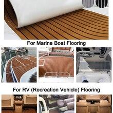 600x2400x5 мм EVA пенопластовый коврик из искусственного тика для лодки, коричневый настил, лист для яхты, напольный Противоскользящий коврик, сам...
