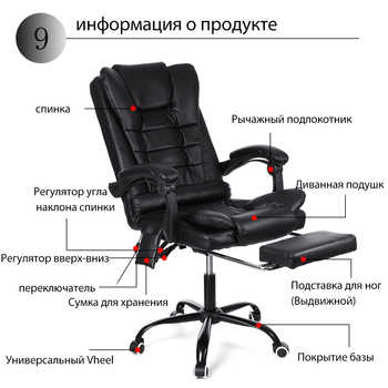 Computer Chair Office Home Swivel Massage Chair Lifting Adjustable Desk Chair WCG Gaming Chair Armchair Lying Recliner Chair 3