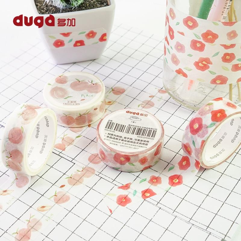 Peach Washi Tape Masking Tape Kawaii Washitape Stickers  Crafts  Stationery Scrapbooking School Tool