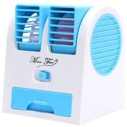 Mini Usb Small Fan Cooling Portable Desktop Dual Bladeless Air Conditioner w Wentylatory od AGD na