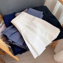 Spring And Summer JK Uniform Skirt Anti Wrinkle Solid Pleated Skirt Women