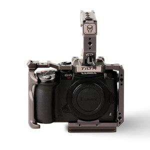 Image 2 - Tilta TA T37 A G kamera kafesi için Panasonic Lumix GH5 GH5S DSLR rig kiti tam kafes üst kolu