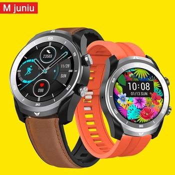 M juniu DT79 Dual Time Zone ECG Smart Watch Men IP67 Waterproof Bluetooth Call 560Mah Big Battery Business Smartwatch