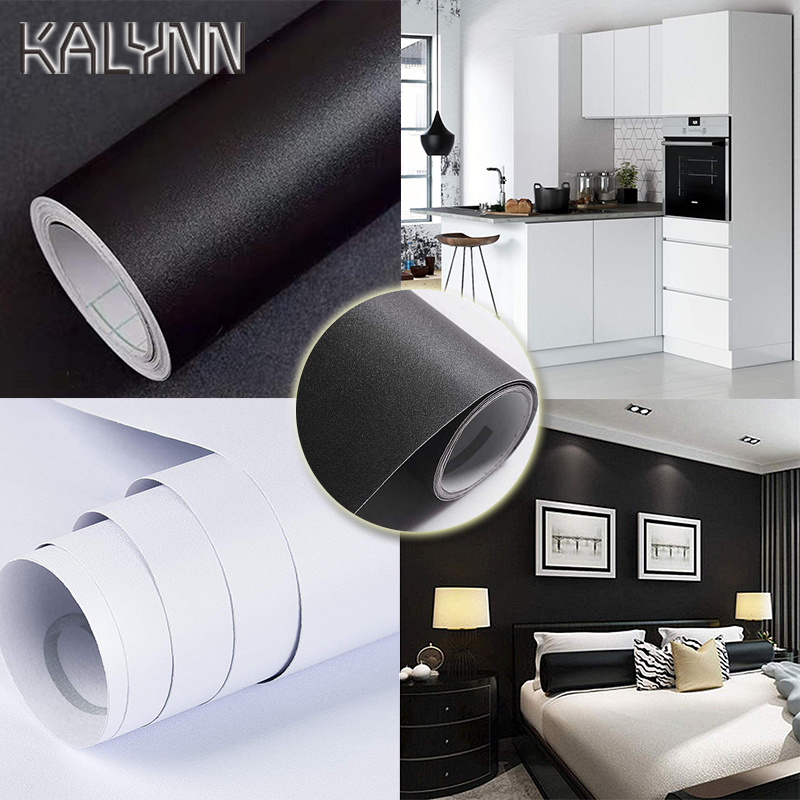 Classic Black White Self-Adhesive Wallpaper For Living Room Kitchen Cabinets Countertops Decorate Stickers DIY PVC Contact Paper