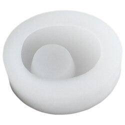 Promocja! Brukowiec świecznik formy silikonowe betonowe doniczki formy Handmade Cement świecznik dekoracja stołu w Formy do kostki brukowej od Dom i ogród na