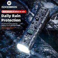 ROCKBROS bisiklet ışığı 1000LM 4800mAH LED USB şarj edilebilir bisiklet ön işık yağmur geçirmez el feneri güç bankası bisiklet far