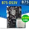 Gigabyte GA-B75-DS3V placa base con CPU Intel Core i3 3220 placa base de LGA 1155 DDR3 1600MHz PCI-E 3,0 Intel B75 placa base