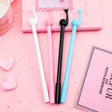 Kawaii new cartoon snail silicone black gel pen Novel student blue writing neutral pen Office School Supplies Pen цена