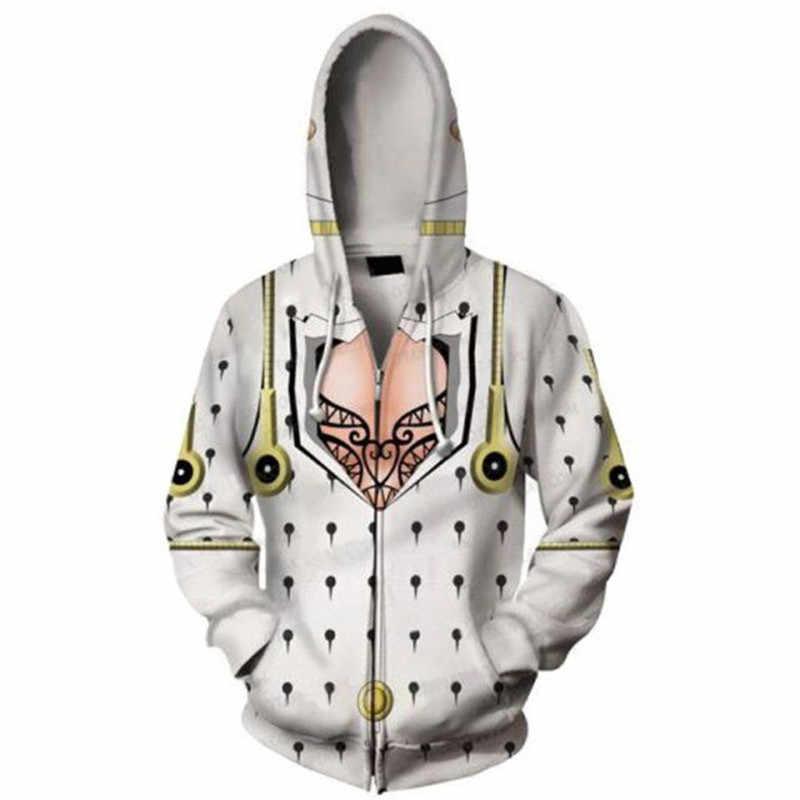 JoJo/'s Bizarre Adventure Men/'s Casual Tops Anime Hoodie Sweatshirt Zipper Jacket