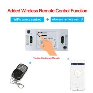 Image 2 - Sk schmidt kunststofftechnik RF Wifi bezprzewodowy 433MHz przekaźnik 1 CH 220V odbiornik smart domowy przełącznik moduł 86 panel ścienny przełącznik zdalnego sterowania 10A 2200W