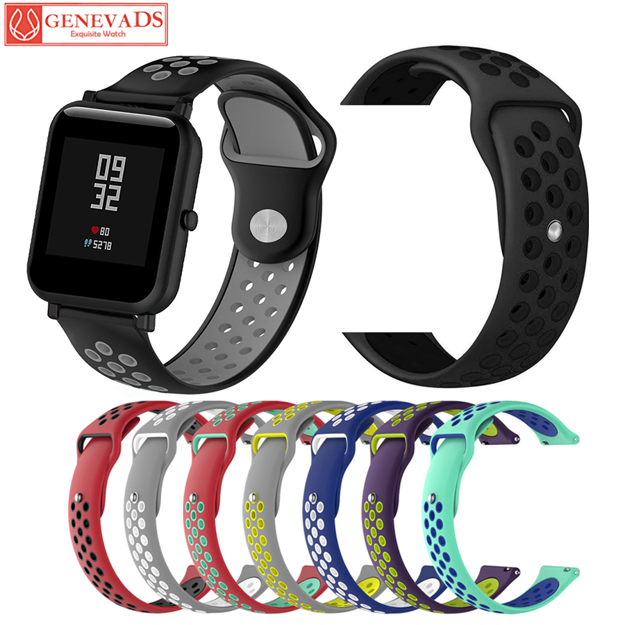 Silicone Watchband Two-Color Replacement Smart Bracelet Belt Wrist Band Strap For Xiaomi Huami Amazfit Bip Youth Watch Suunto