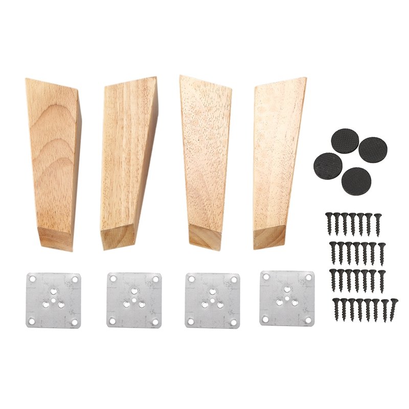 4 Pieces Of Wood Cone Replacement Sofa Sofa Legs Cabinets Wooden Furniture Feet Furniture Wooden Legs