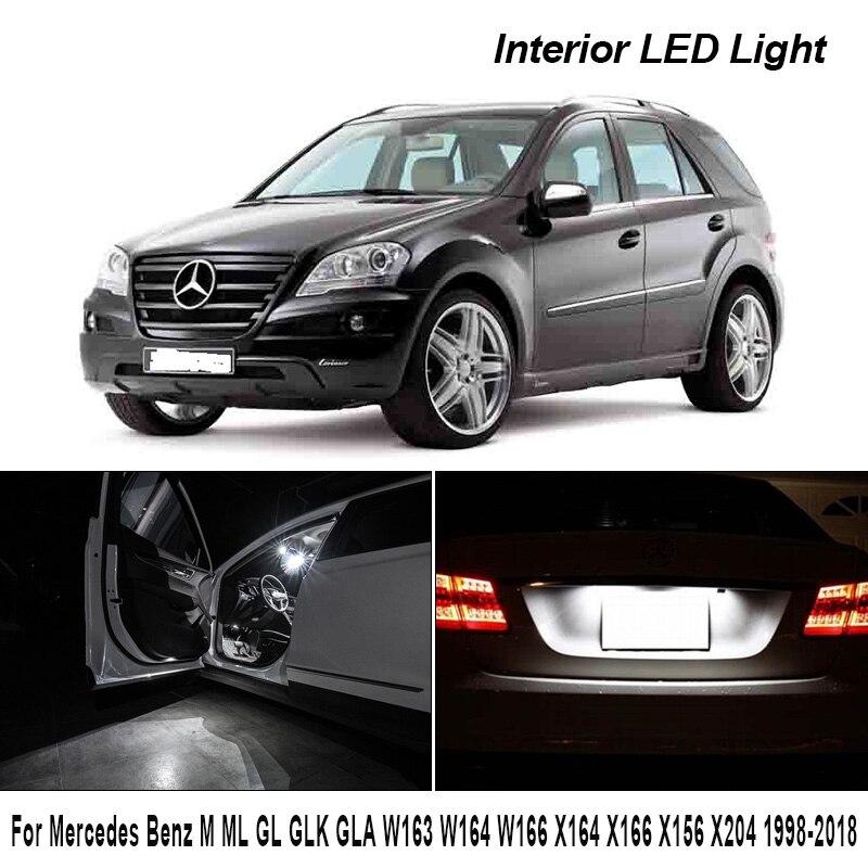 Mükemmel beyaz LED ampul iç okuma harita kubbe ışık kİtİ Mercedes Benz M ML GLK GLA W163 W164 W166 x164 X166 X156 X204