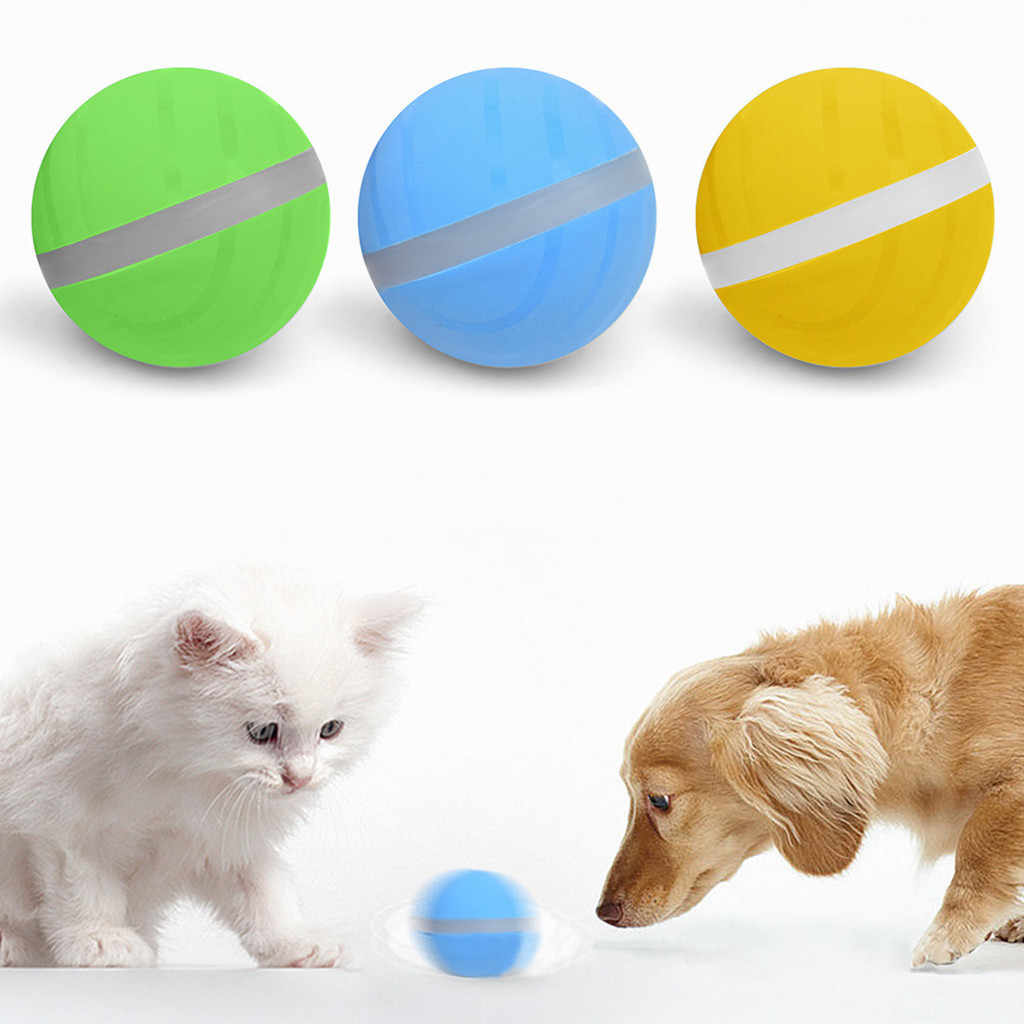 Silicone Wicked Glowing Ball Pet Dog Cat Toys Interactive Electronic LED Waterproof Toy Magic Roller Ball Need To Use Battery