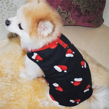 Pet Jacket Warm Winter Clothes Dogs Coat Jacket Autumn Winter Cute Warm Pet Dog Puppy Fleece Clothes Coat with Traction Buckle image