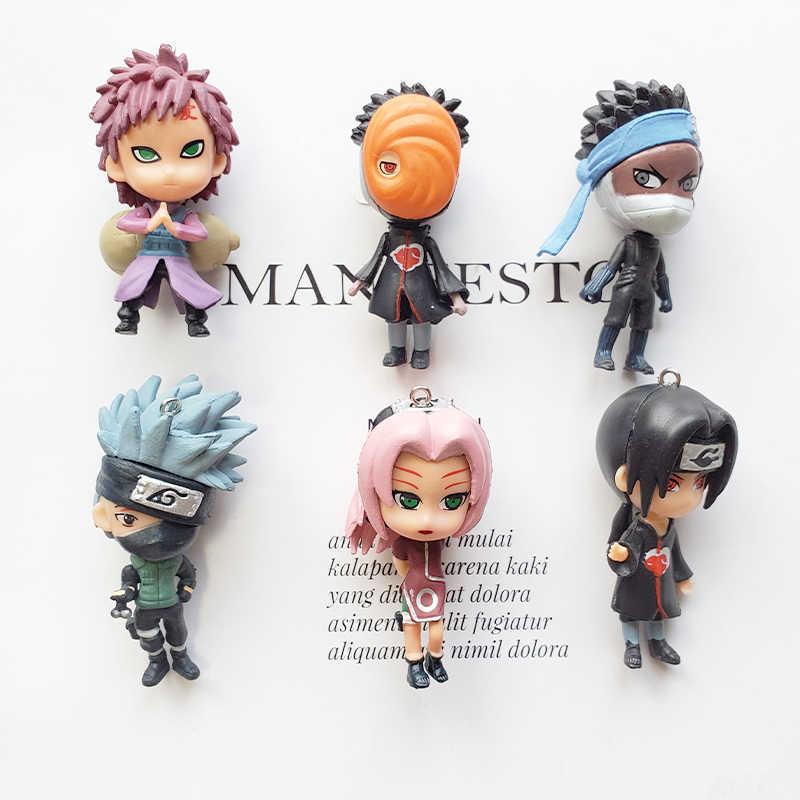 12 Stijlen Pompom Naruto Sleutelhanger Sasuke/Itachi/Kakashi Acryl Sleutelhanger Hanger Sleutelhanger Pop Anime Accessoires Cartoon Sleutel ring