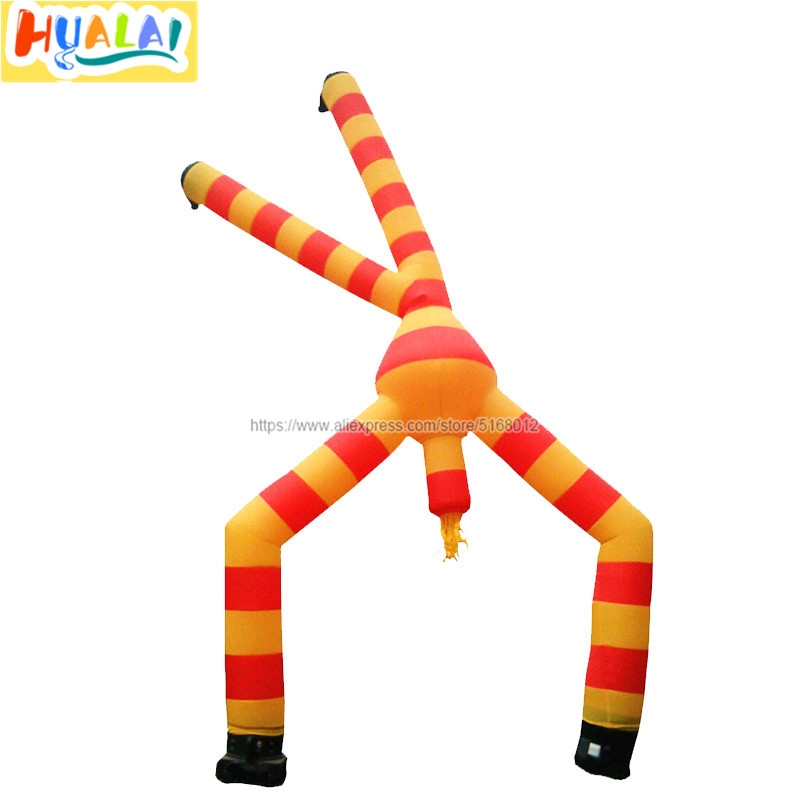 6m 19.6ft gonflable air tube danseur homme les deux jambes vent ciel humain dessin animé modèle jouets souffleur pour publicité extérieure à vendre