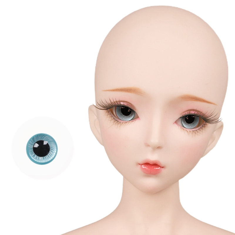 For Bjd Eyeball 14mm Glass Material Green Blue Eyes Suitable For 1/3 1/4 Doll Accessories 26