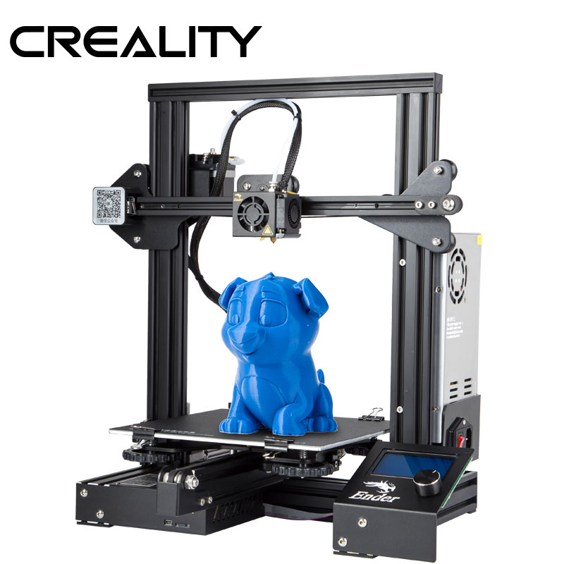 CREALITY 3D Printer Ender-3/Ender-3X Upgraded Tempered Glass Optional,V-slot Resume Power Failure Printing DIY KIT Hotbed secadora de cabello nova
