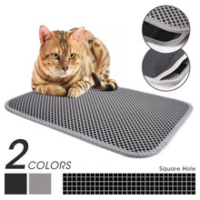 Tapis de litière pour chat de compagnie Double couche imperméable à l'eau litière pour chats maison propre Super léger facile à transporter Surface lisse