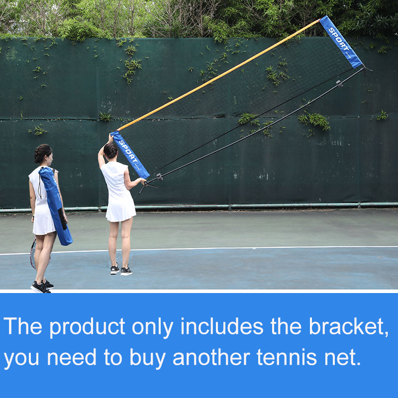 Foldable Tennis Net Bracket Easy To Install Professional Tennis Sport Outdoor Portable Training Bracket Without Net