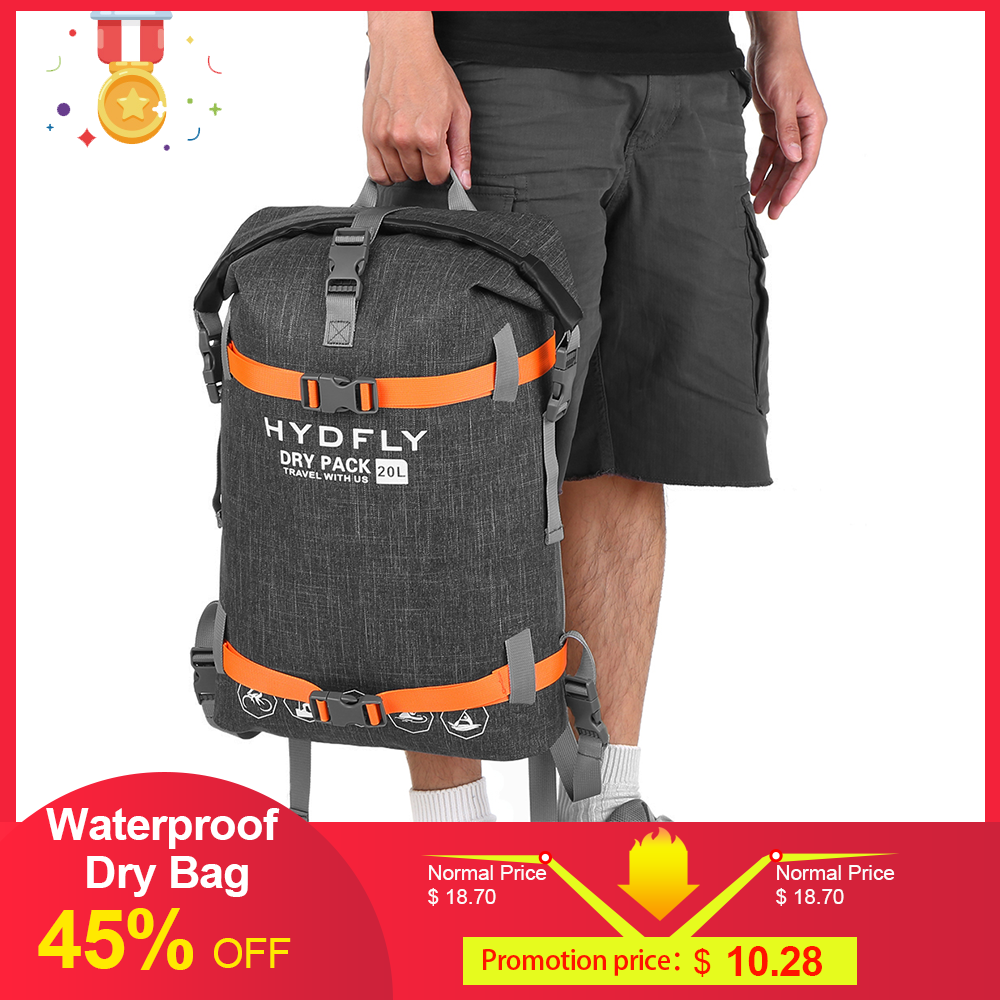 Outdoor Waterproof Dry Bag River Trekking Floating Roll-top Backpack Drifting Swimming camping Water Sports Dry Bag 10/15/20L