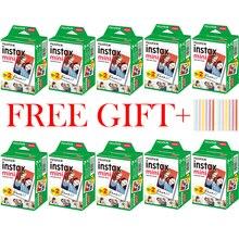 10 100 매 Fuji Fujifilm instax mini 11 9 8 필름 흰색 가장자리 인스턴트 카메라 용 3 인치 필름 mini 8 9 7s 25 50s 90 인화지