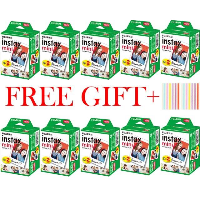 10 200แผ่นFuji Fujifilm Instax Mini 11 9 8สีขาวขอบ3นิ้วสำหรับกล้องmini 8 9 7S 25 50S 90กระดาษ