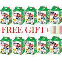 10-200 Sheets Fuji Fujifilm instax mini 9 films white Edge 3 Inch wide film for Instant Camera mini 8 9 7s 25 50s 90 Photo paper