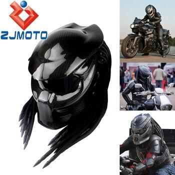 Motorcycle High Light Carbon Fiber Predator Mask Helmet Iron Man Full Face Helmets Iron Warrior Helmet цена 2017