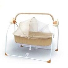 Baby Electric Shakingbed Cradle Rocking Chair Smart Bassinet Bluetooth Music Newborn Sleeping Baby Crib  Baby Swinging Beds