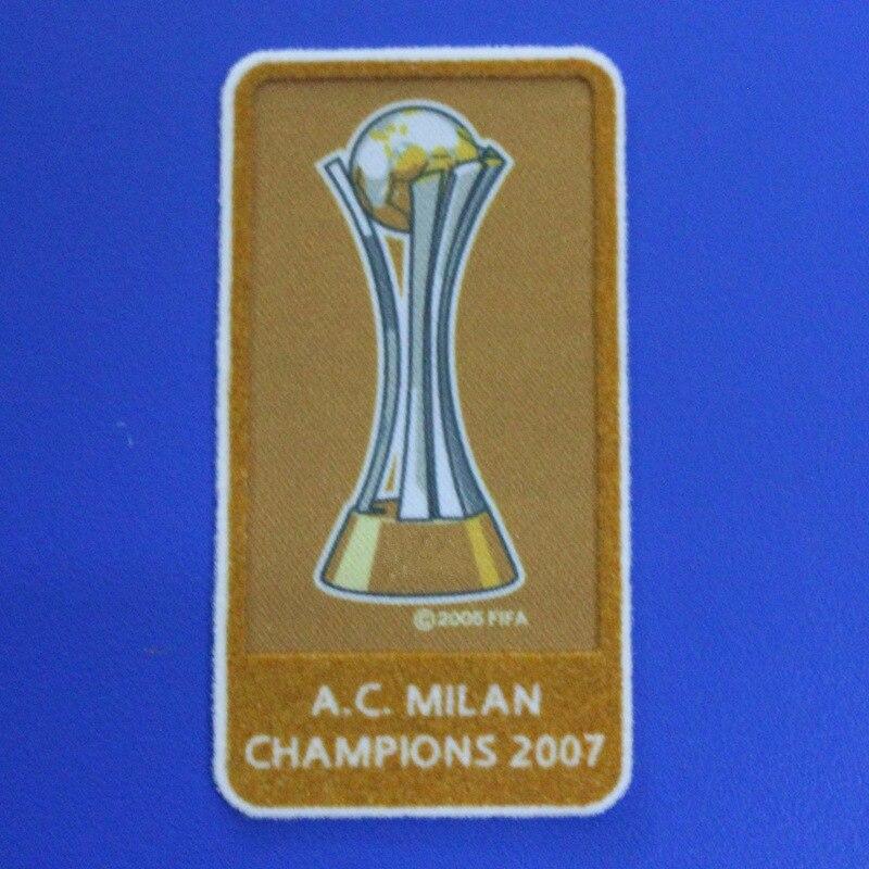 Parches de insignia de transferencia de calor AC milan champions 2007