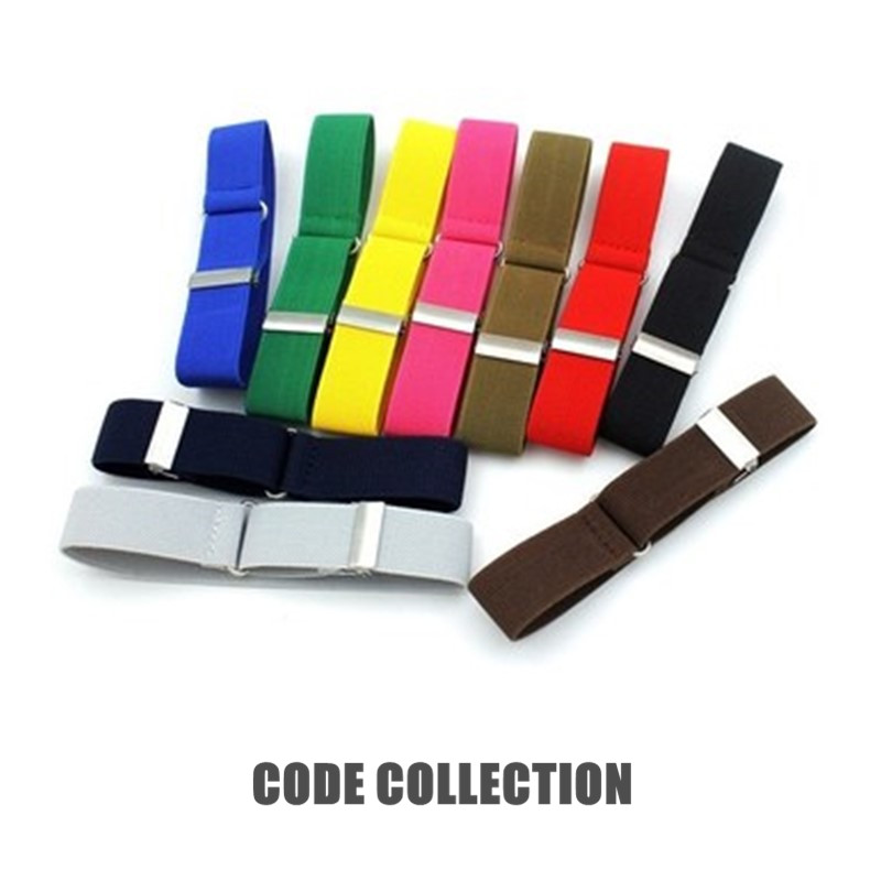 New Shirt Sleeve Strap Anti-slip Fixed Sleeve Ring Cuff Vintage 2.5cm Width Narrow Tie Cuff Arm Band Armband Clothes Accessories