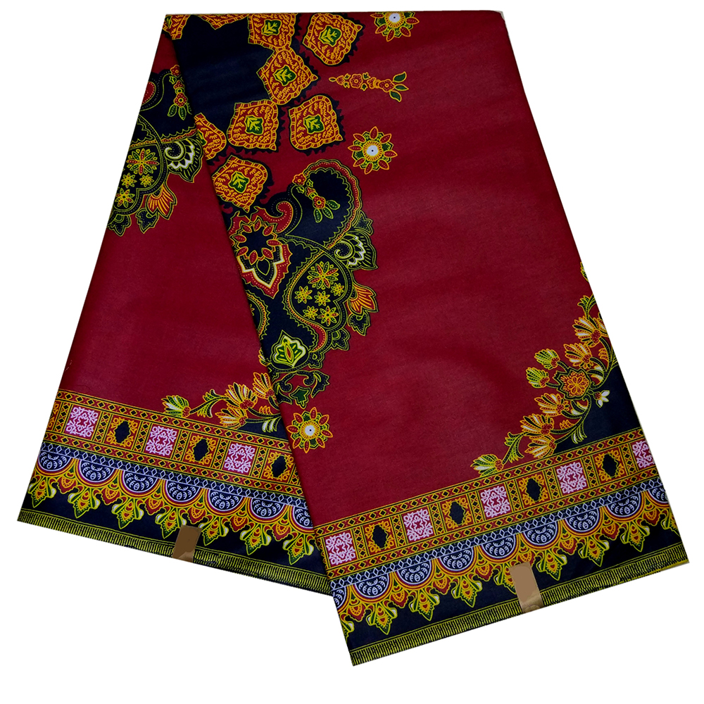 2019 New Veritable Wax High Quality African Fabric 100% Cotton African Wax Dashiki Prints Red Fabric