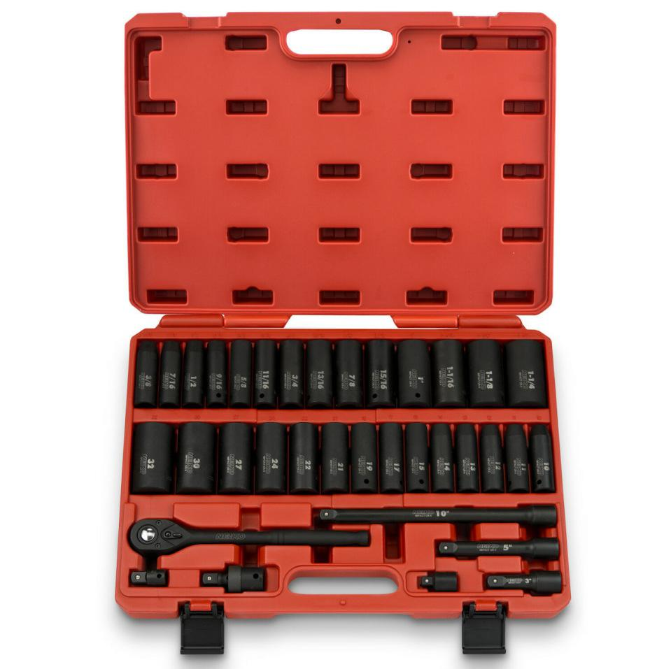 35pcs/set 1/2 Inch Drive Deep Impact Socket Master Set Socket Wrench Set Car Accessaries