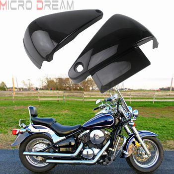 Motorcycle Battery Side Cover Frame Guard Fairing Protect Black for Kawasaki Vulcan VN800 VN800A VN400 Classic Drifter 1995-2006