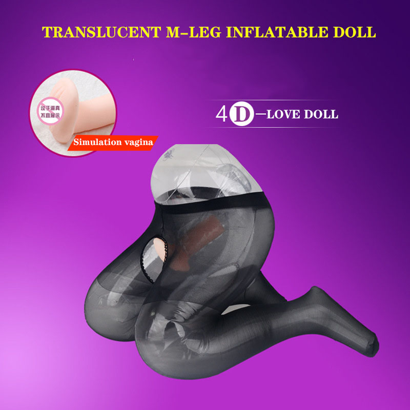 Transparent Shaped-M Leg Inflatable <font><b>Doll</b></font> Artificial Vagina Male Masturbation Supplies <font><b>Adult</b></font> <font><b>Sex</b></font> <font><b>Toys</b></font> Male Inflatable <font><b>Sex</b></font> <font><b>Dolls</b></font> image
